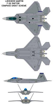 F-22 Raptor Compass Ghost by bagera3005.deviantart.com on @DeviantArt