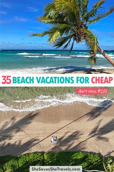 Looking for a cheap beach vacation? These are the best getaways o a budget! For couples, families or solo travelers, these beach vacation destinations will make you swoon! | Beach Vacations USA | Budget Travel | Best Family Vacations | Honeymoon Destinations at the Beach | Island Vacations | Cheap Vacations | Caribbean Vacations for Cheap Cheap Beach Vacations, Best Family Vacations, Caribbean Vacations, Beach Travel, Usa Travel, Beach Trip, Vacation Trips, Travel Info, Budget Travel