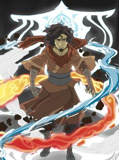 Avatar Wan bending the four elements with Raava behind him. You could say he's the Wan and only first Avatar. Avatar Aang, Make Avatar, Avatar Legend Of Aang, Avatar The Last Airbender Art, Team Avatar, The Legend Of Korra, Avatar Tattoo, Arte Nerd, Avatar Picture