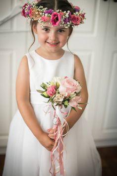 #flowergirl #bridesmaids #flowerwreath #wedding #pinkflowers #kefalonia Girls Dresses, Flower Girl Dresses, Pink Flowers, Bridesmaids, Bridal, Wedding Dresses, Fashion, Dresses Of Girls, Bride Dresses
