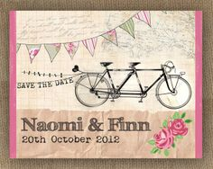 Tandem-Bicycle-wedding-invitation-by-In-the-treehouse.jpg (600×480)