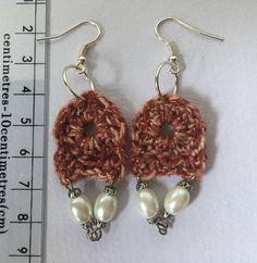 Dangling crocheted earrings by LefthandmadeCo on Etsy Etsy Store, Dangle Earrings, Dangles, Jewelry, Jewlery, Bijoux, Jewerly, Jewelery, Jewels