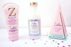 Zoella Beauty Sweet Inspirations Skincare Packaging, Soap Packaging, Zoella Beauty Range, Youtuber Merch, Youtubers, Makeup Package, Bath Soap, Beauty Studio, Makeup Goals