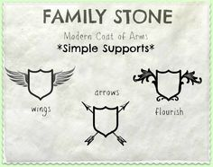 "Artistic Environments: Get Your Own ""Family Stone"" Modern Coat of Arms"