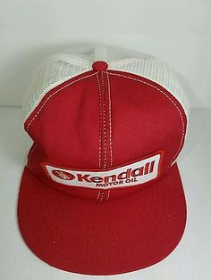 c1bd12cd8 Kendall Motor Oil Trucker Snapback hat cap. This made in the USA Vintage  80 s mesh