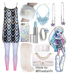 """""""Abbey Bominable 1 (Monster High)"""" by rheebavn ❤ liked on Polyvore featuring C/FAN, Chanel, Forever 21, AeraVida, TFNC, Viva La Diva and Diamondere"""
