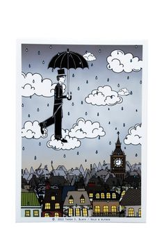 The Magician's Thunderstorm  Illustration by by osloANDalfred, $15.00
