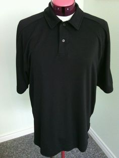 North End Sports Men's Black Polo Shirt Size L/G Lightweight Top Performance Fit | eBay