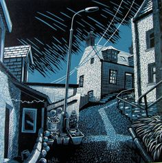 """Storm Path"" Original lino prints by Scottish Artist Bryan Angus Landscape Prints, Landscape Art, Cityscape Drawing, Linoprint, Shadow Art, Stencil Painting, Wood Engraving, Linocut Prints, Woodblock Print"
