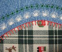 Part 2 - Denim Christmas stocking from NebraskaViews.Blogspot.Com