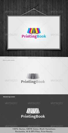 Printing Book Logo  #GraphicRiver         It's Good Looking Simple logo Template. It's used Any kind's of Company to related this idea.  Featured: 	 	 AI CS3 Document 		 EPS CS Document 		 CMYK – 100 % Vector (Re-sizable) 		 3 Variations 	  	 Free Fonts used  	 Enjoy, vote if you like it.     Created: 3July12 GraphicsFilesIncluded: JPGImage #VectorEPS #AIIllustrator Layered: Yes MinimumAdobeCSVersion: CS Resolution: Resizable Tags: abstractlogo #agency #art #book #booksell #bookseller #books…
