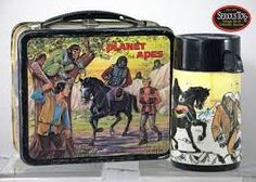 This was my all-time favorite lunch box.not only was it Planet of the Apes, but it had a horse on it, too! Lunch Box Thermos, Tin Lunch Boxes, Vintage Lunch Boxes, Metal Lunch Box, Boxer Rebellion, Lap Tray, Out To Lunch, Vintage Horse, Kids Growing Up
