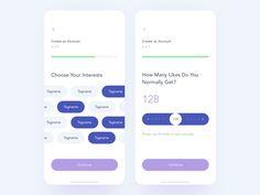 by Serhiy Ozhibko Interaktives Design, App Ui Design, Graphic Design, Ui Design Mobile, Mobile Ui, Survey Design, Geometric Font, Web Design Tutorials, Layout Template