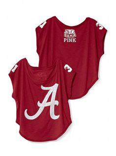 University of Alabama Drapey Bling Tee - Victoria's Secret PINK® - Victoria's Secret