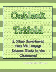 This is a trifold with instructions for making oobleck.  This goes with the book Bartholomew and the Oobleck. I plan to use this lesson during Read...