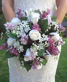 bouquet bianco e glicine