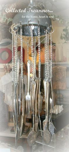pics of windchimes | Antique Butter Dish Wind Chimes