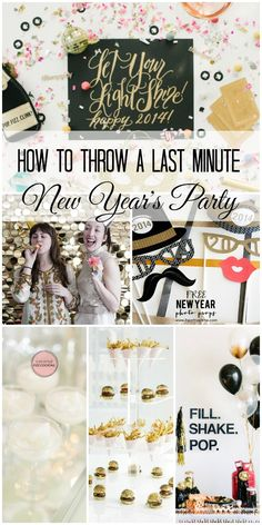 How to Throw a Last Minute New Year's Party! #newyears #2014 New Years Party Themes, New Years Decorations, New Year's Eve Celebrations, New Year Celebration, New Years Eve Day, Nye Party, Party Time, Party Fun, A Little Party
