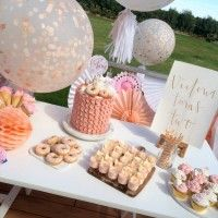 PEACH AND GOLD THEMED SECOND BIRTHDAY