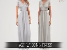 The Sims 4 Lace Wedding Dress by elliesimple