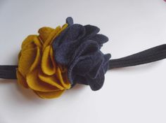 Wool felt flower headband