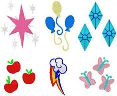 Embroidery Files - MLP Cutie Marks