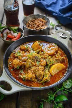 Aloo Gosht Recipe is a spicy meat gravy which has potatoes cooked with lamb or mutton in a thin watery stew. Here is how to make it. #Lamb #Potato #Curry #Mutton #Indian