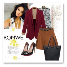 """""""Romwe (1)  1"""" by aida-1999 ❤ liked on Polyvore featuring mode"""
