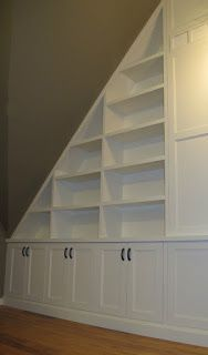 Love this idea! Use drawers instead of cabinets and do something like this for the master bedroom!