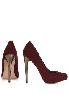 STEEL Metal Heel Court Shoes - New In This Week  - New In
