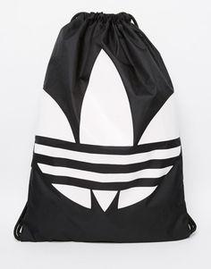8c3fec506381 Super seje adidas Originals Drawstring Backpack - Black adidas Originals  Rygsække til Herrer i behageligt materiale