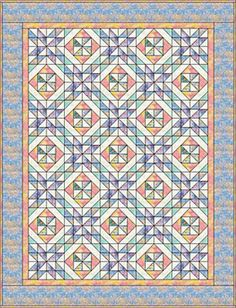 Create a Bit of Extra Spin With Pinwheel in a Square Quilt Blocks: Springtime Pinwheels Quilt Pattern Option
