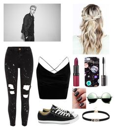 """""""Untitled #610"""" by tumblr-outfits12 ❤ liked on Polyvore featuring River Island, Converse, Boohoo, Rimmel, Nikki Strange and Revo"""
