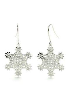 Kim Rogers  Photo Etched Snowflake Earrings