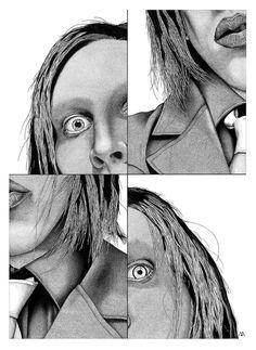 Stippling Art / Pontilhismo - Marilyn Manson - Desenho sobre papel - 50x70cm - Fine Art (giclée) - numerado e assinado pelo artista - acompanha certificado de autenticidade.