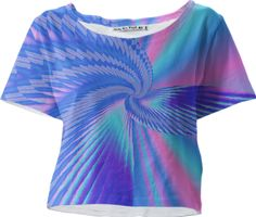 Lovely pink and blue #fractal  #croptee from the #Gingezel Inspired by Spring collection at #PAOM. #fashion #fashioninspiration #pinkandblue #pastel