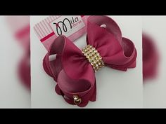 🎀BOUTIQUE ESTILO II🎀 Baby Tiara, Dyi, Diy Hair Bows, Baby Crafts, How To Make Bows, Flower Making, Baby Headbands, Diy Hairstyles, Handmade Crafts