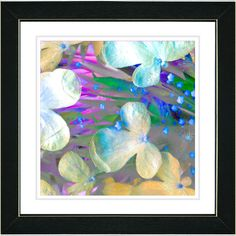 Pastel Party Flower by Zhee Singer Framed Fine Art Giclee Painting Print