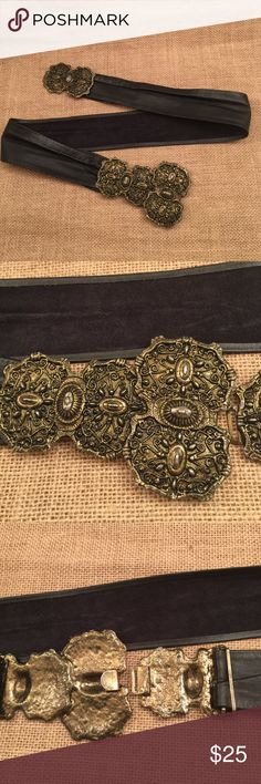 Antique Black Leather Hip Belt Belt is made out of genuine leather with handmade metal carving head. Bought it at an antique boutique in Texas. Tag anthropology for exposure. Accept any reasonable offer. Anthropologie Accessories Belts