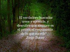 """""""El verdadero buscador crece y aprende, y descubre que siempre es el principal responsable de lo que sucede"""" – Jorge Bucay"""