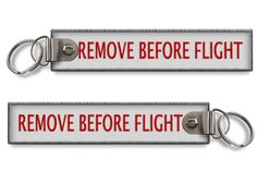 Remove before flight BagTag (Buckle) -WHITE