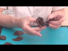 How to Make Chocolate Roses using moulding chocolate/chocolate plastique