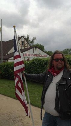 Brian from K99 with Journey for Justice standing up against the idiots who protest military funerals!