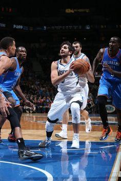 Ricky Rubio Minnesota Timberwolves Oklahoma City Thunder Serge Ibaka Kendrick Perkins Thabo Sefalosha Pekovic
