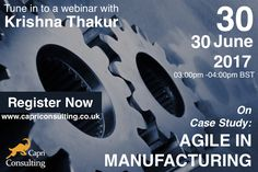 How to apply #Agile/ #Scrum in other industries? Tune in to our webinar on 30th June.