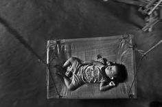 A young child in one of the Bhutanese refugee camps in Nepal.