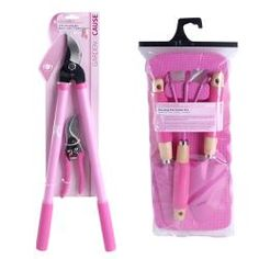 Charming All Purpose 6 Piece Pink Garden Tool Set