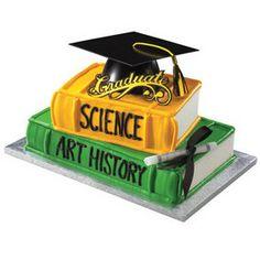 Graduation Mega Hat Stacked Books Cake