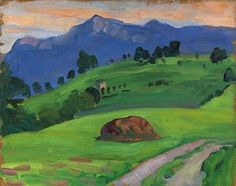 Fan account of Gabriele Münter, an expressionist painter who was at the forefront of the German avant-garde in the century. Franz Marc, Wassily Kandinsky, Landscape Art, Landscape Paintings, Cavalier Bleu, George Grosz, Mary Cassatt, Mountain Art, Impressionist Paintings