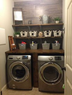 70 Best DIY Small Farmhouse Laundry Room Ideas 2019 - Page 52 of 69 - Diaror Diary You are in the right place about DIY Laundry detergent Here we offer you the most beautiful pictures about the DIY La Laundry Room Layouts, Laundry Room Remodel, Laundry Room Cabinets, Laundry Closet, Laundry Room Organization, Small Laundry, Laundry Room Design, Laundry Room Countertop, Diy Cabinets